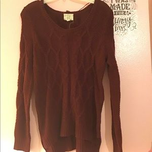 Burgundy hippie Rose sweater